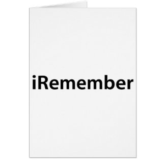 iRemember Greeting Cards