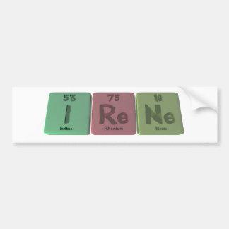 Irene as Iodine Rhenium Neon Bumper Sticker