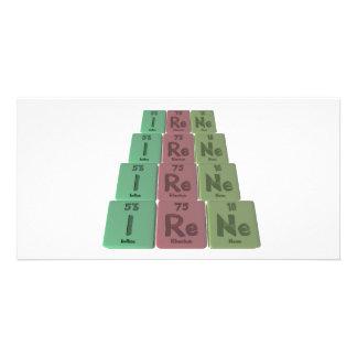 Irene as Iodine Rhenium Neon Photo Cards