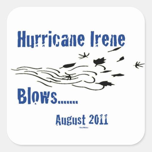 Irene Blows Stickers