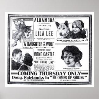 Irene Castle 1919 vintage movie ad poster