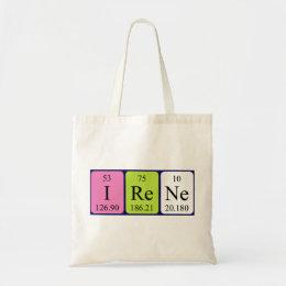 Irene periodic table name tote bag