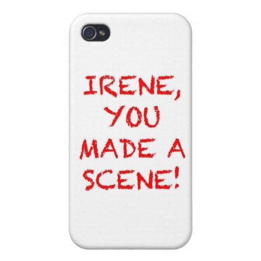Irene usted hizo una escena iPhone 4/4S carcasa