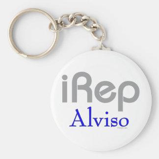 iRep-Alviso North Cali City Tees Basic Round Button Keychain