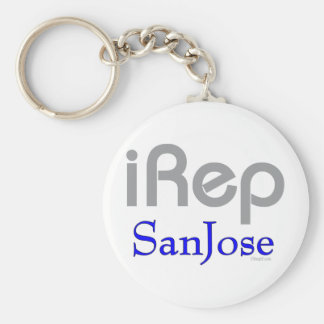 iRep-SanJose Cali California Basic Round Button Keychain