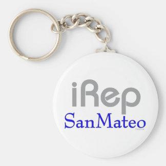 iRep-SanMateo California Basic Round Button Keychain