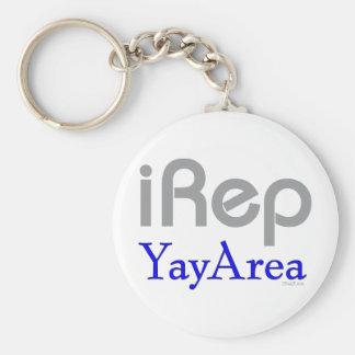 iRep-YayArea Cali Tees Basic Round Button Keychain