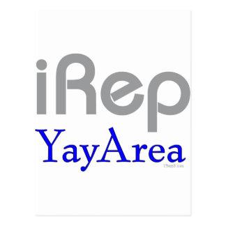 iRep-YayArea Cali Tees Postcard