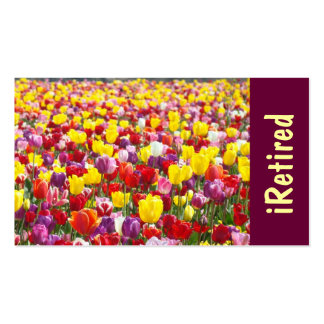 iRetired Busienss Cards Tulips Retirement Retired Business Card Templates