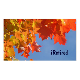 iRetired business cards Retirement Retiring gifts
