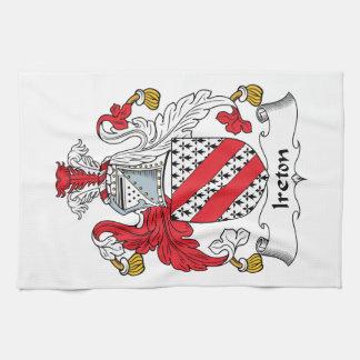 Ireton Family Crest Hand Towels
