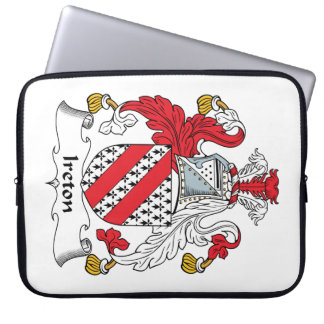 Ireton Family Crest Laptop Computer Sleeves