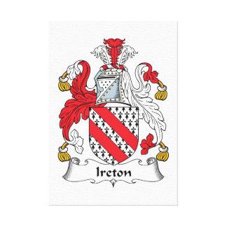 Ireton Family Crest Stretched Canvas Prints