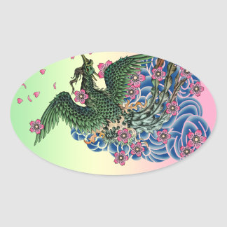 Irezumihouou Oval Sticker
