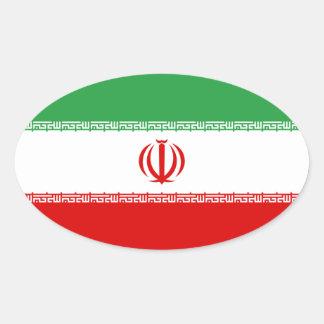 IRI National Flag Oval Sticker