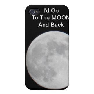 Iría A ESTAR EN LA LUNA para usted el caso del iph iPhone 4 Funda