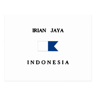 Irian Jaya Indonesia Alpha Dive Flag Postcard
