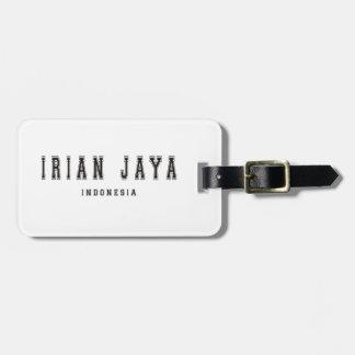 Irian Jaya Indonesia Bag Tag
