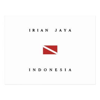 Irian Jaya Indonesia Scuba Dive Flag Postcard