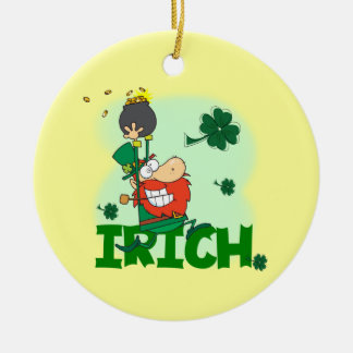 Irich St. Patrick's Day Tshirts and Gifts Christmas Tree Ornaments