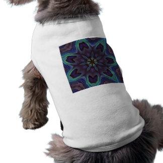 Iridescent Abalone Shell Kaleidoscope Dog Tee Shirt