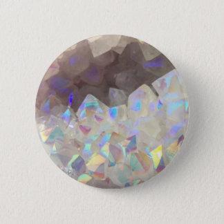 Iridescent Aura Crystals Pinback Button