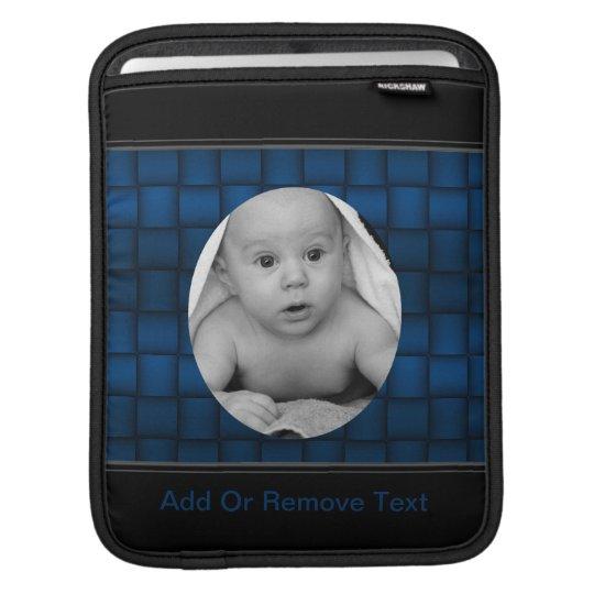 Iridescent Blocks (Blue) iPad Sleeve