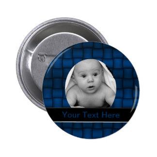 Iridescent Blocks (Blue) Pinback Button
