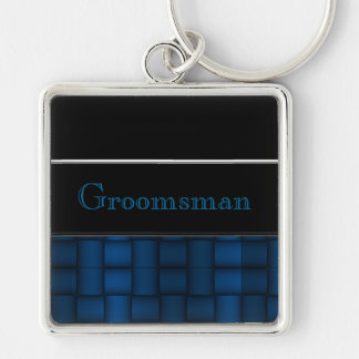Iridescent Blocks (Blue) (Wedding) Keychain