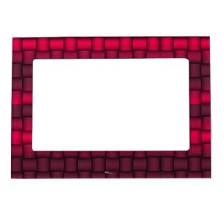 Iridescent Blocks (Fuschia) Photo Frame Magnet