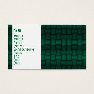 Iridescent Blocks (Green) Business Card