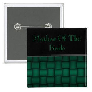 Iridescent Blocks (Green) (Wedding) Button