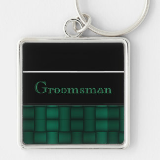 Iridescent Blocks (Green) (Wedding) Keychain