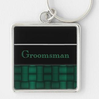 Iridescent Blocks (Green) (Wedding) Keychain