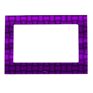 Iridescent Blocks (Purple) Photo Frame Magnets