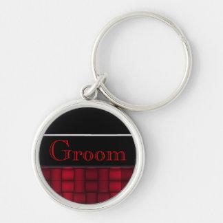 Iridescent Blocks (Red) (Wedding) Keychain