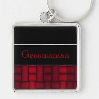 Iridescent Blocks (Red) (Wedding) Keychain