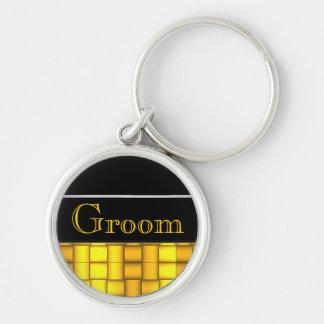 Iridescent Blocks (Yellow) (Wedding) Keychain