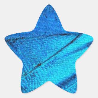 Iridescent Blue Butterfly Wing Star Sticker