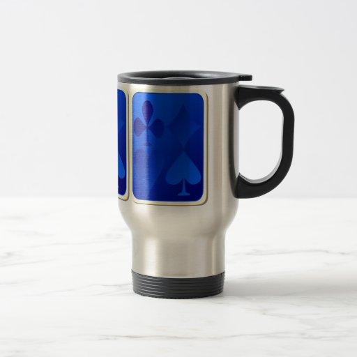 Iridescent Blue Gamble Aluminum Travel Mug