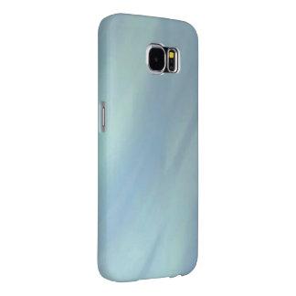 Iridescent Blue Metallic Waves Samsung Galaxy S6 Case