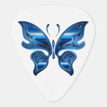 Iridescent Butterfly Guitar Pick