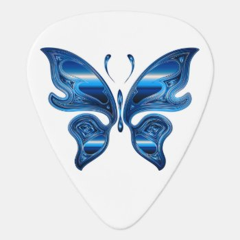 Iridescent Butterfly Guitar Pick by CoolSenseIdea at Zazzle