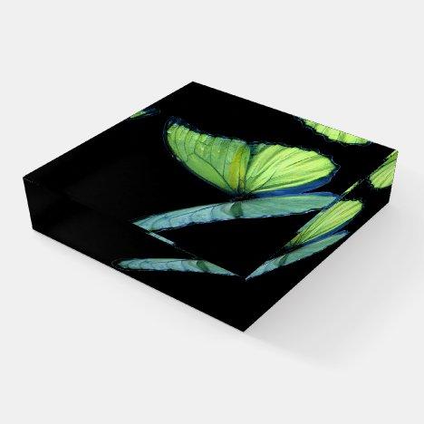 Iridescent butterfly paperweight