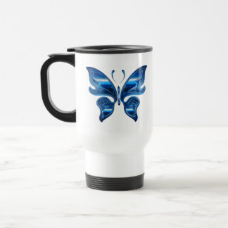Iridescent Butterfly Travel Mug