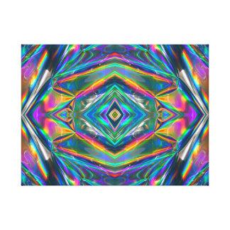 Iridescent chrome Canvas Print