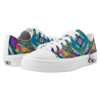 Iridescent Chrome Womens Shoes Printed Shoes
