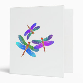 Iridescent Dive Bombing Dragonflies Binder