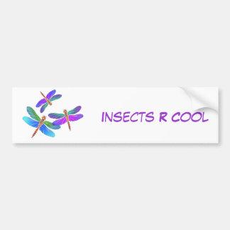 Iridescent Dive Bombing Dragonflies Car Bumper Sticker