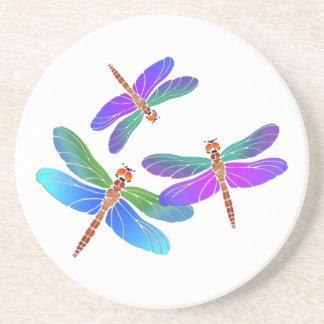Iridescent Dive Bombing Dragonflies Coaster